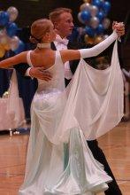 Bailarinos de dança de salão valsa